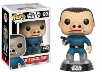 Pop! Star Wars Smugglers Bounty 69 Blue Snaggletooth - Exclusive!! - FREE Pop Protector